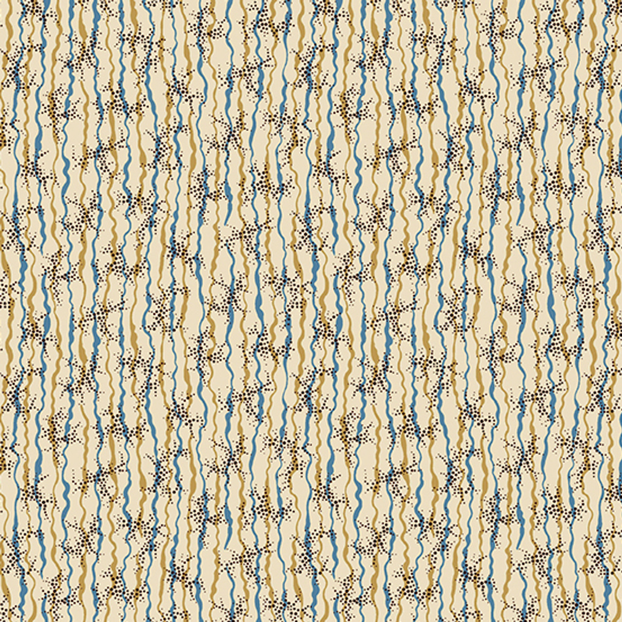 Chesapeake by Di Ford Hall : Ribbon and Dots, Blue