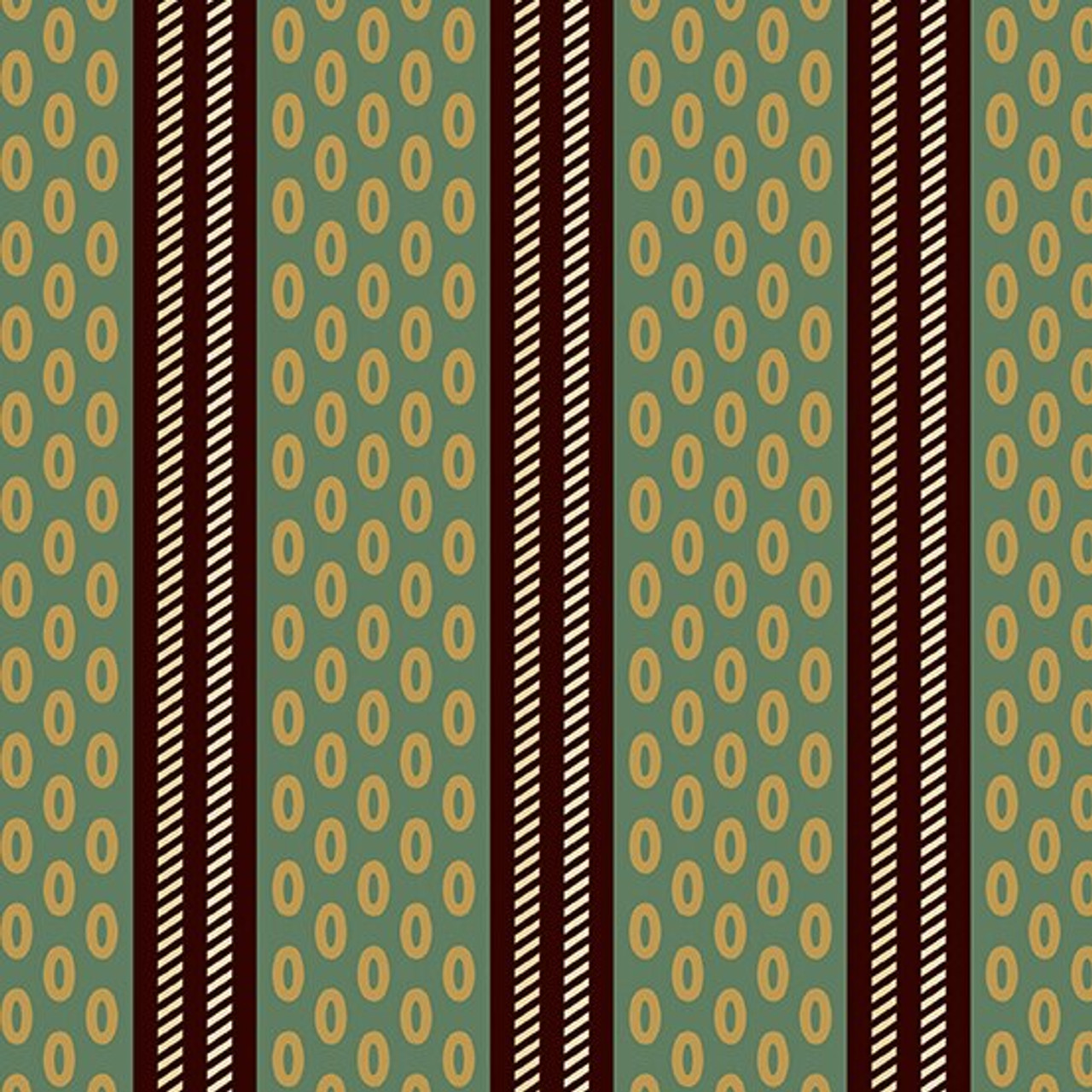 Chesapeake by Di Ford Hall : Oval Stripe, Green