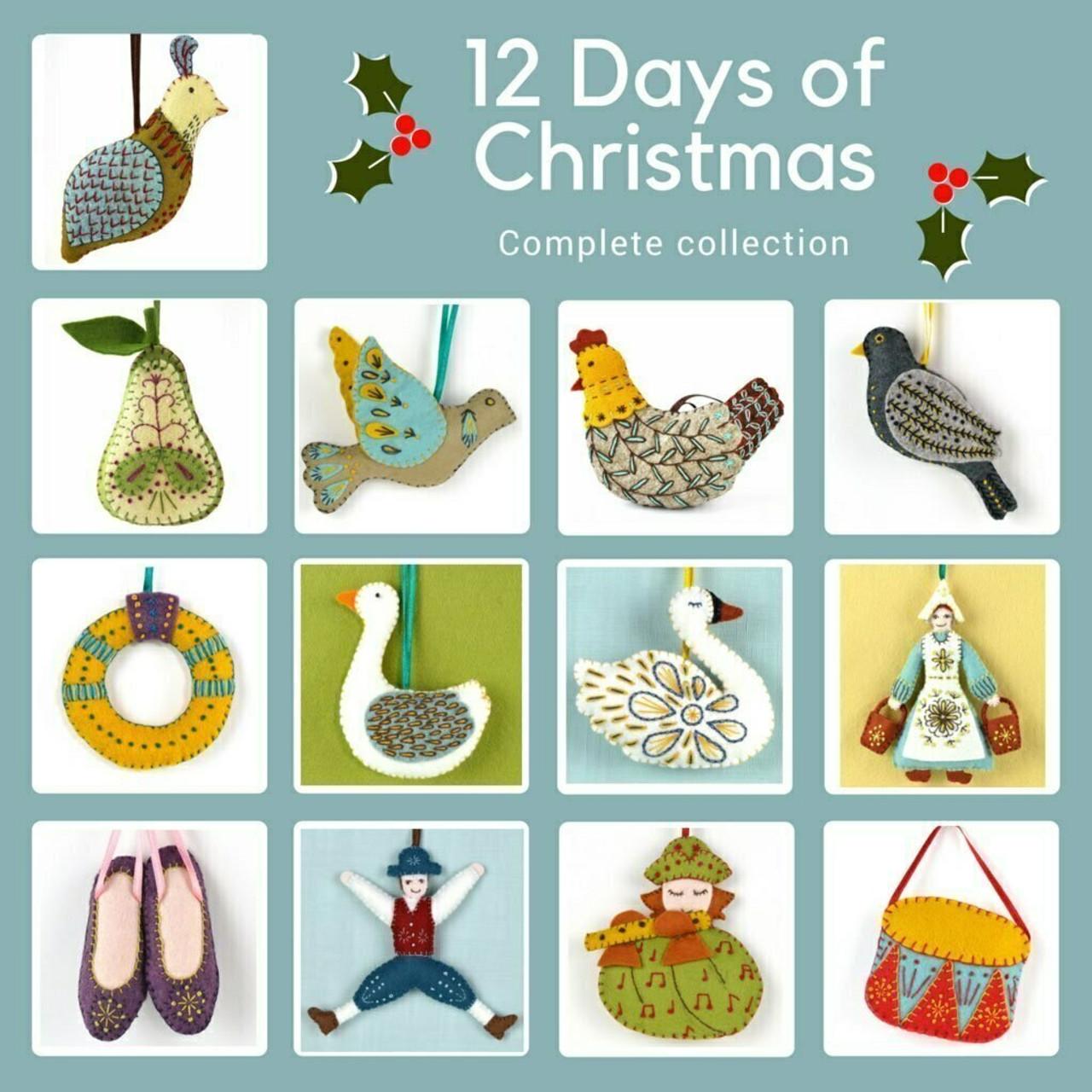 12 Days of Christmas Felt Club Kit