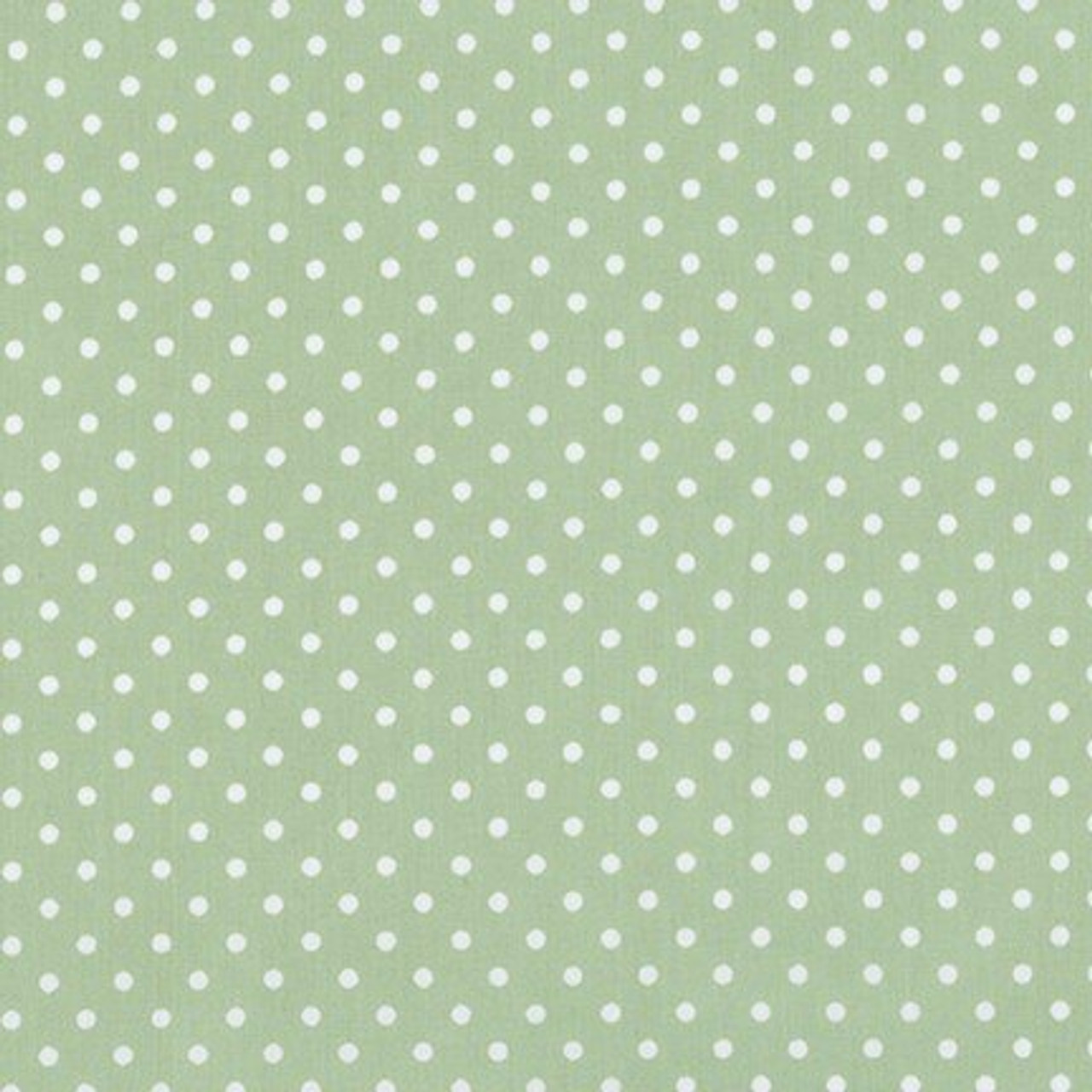 Small Dot - White on Green