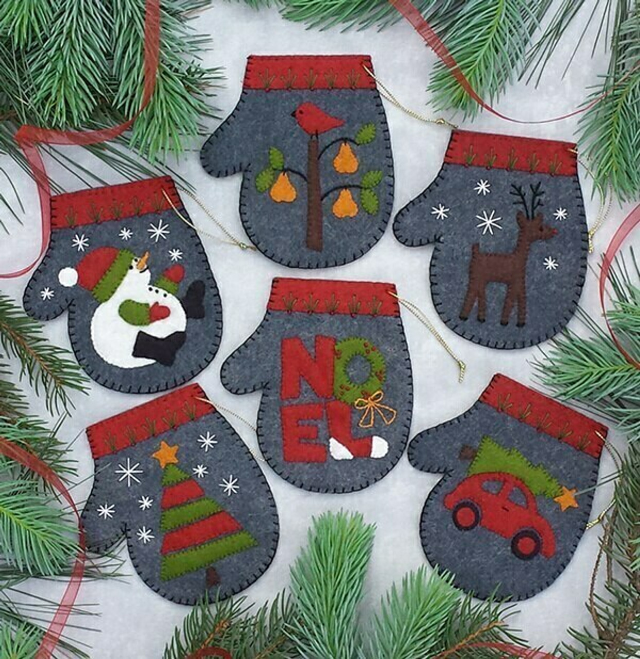 Charcoal Mittens Ornament Kit