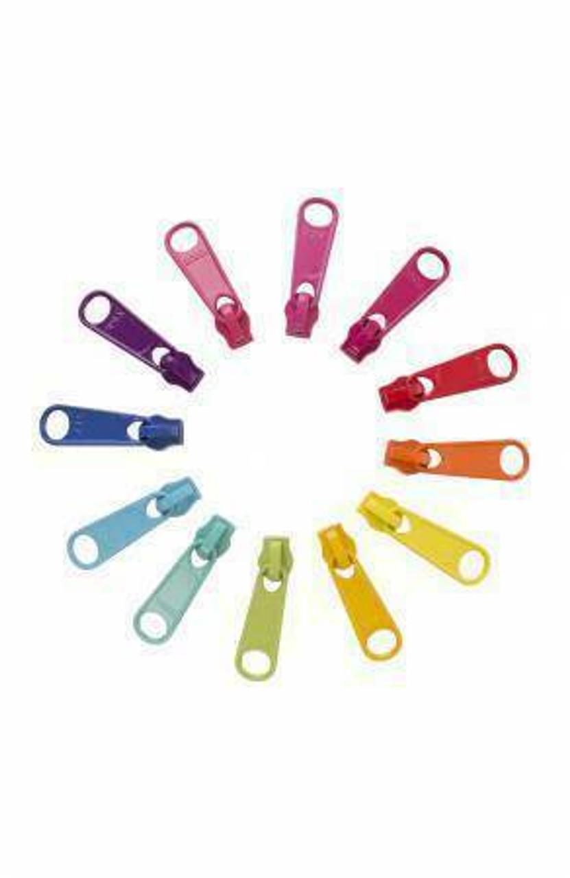 12 Zipper Pulls - Bright