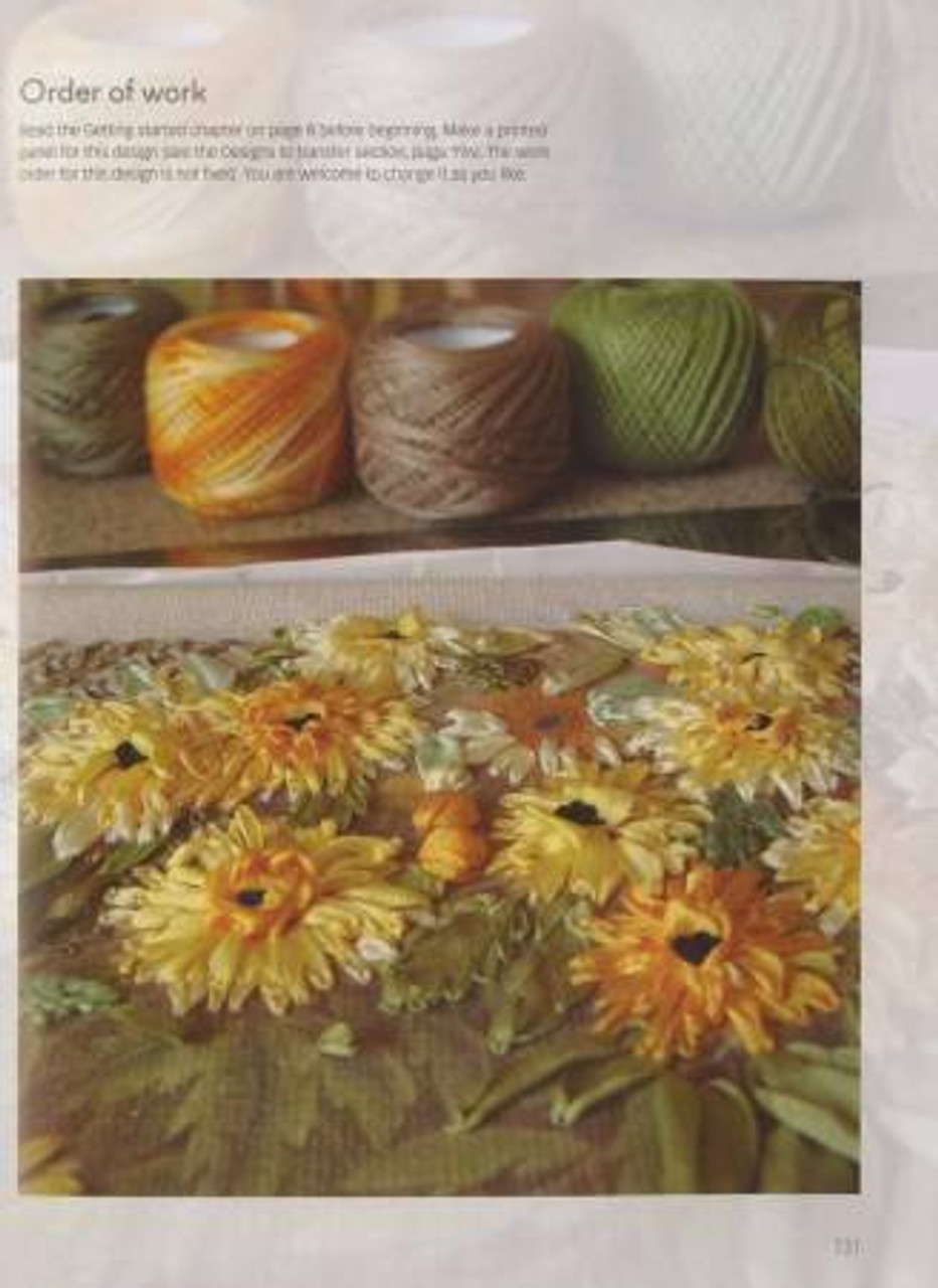 Textile Artist The Seasons In Silk Ribbon Embroidery