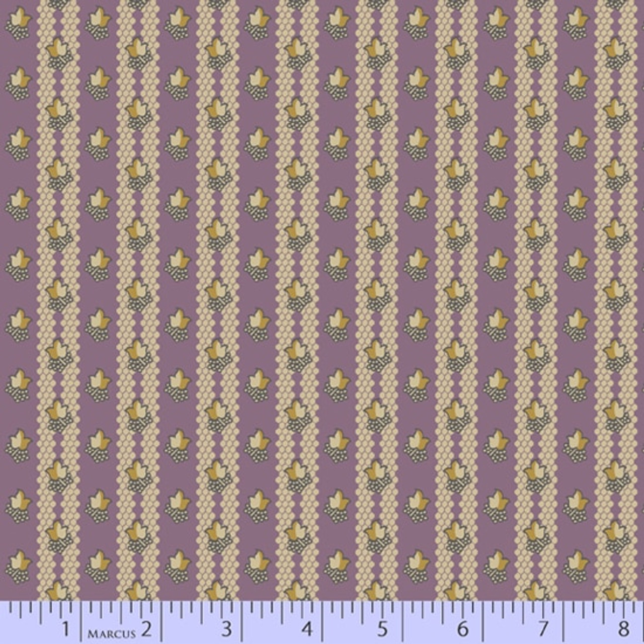 Sarah J Maxwell : Full Circle, Leaf Stripe, Purple