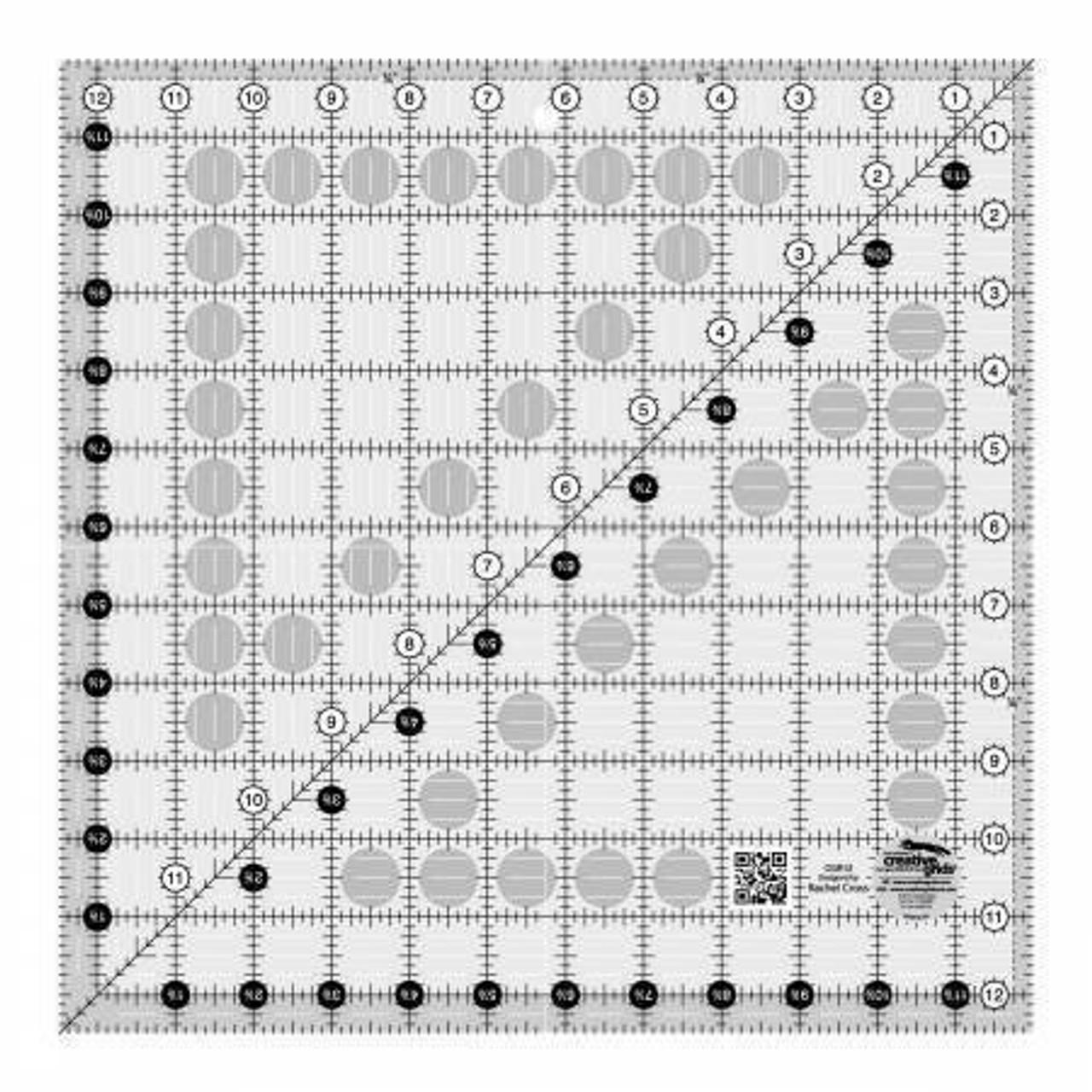 "Creative Grids Quilt Ruler - 12 1/2"" x 12 1/2"""
