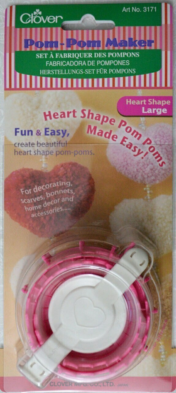 Clover Pom-Pom Maker - Heart Shape - Large