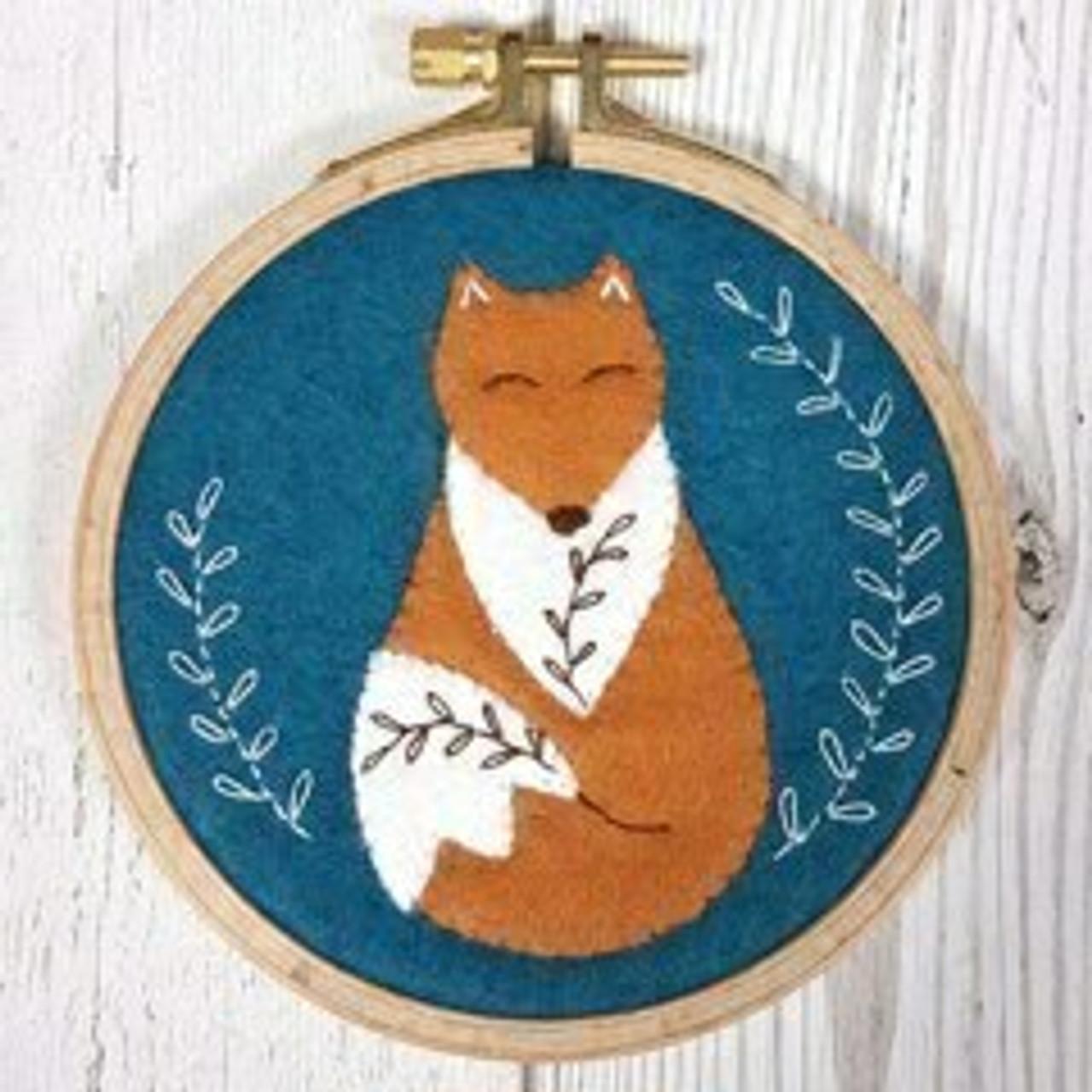 Applique Hoop Folk Fox Mini Kit