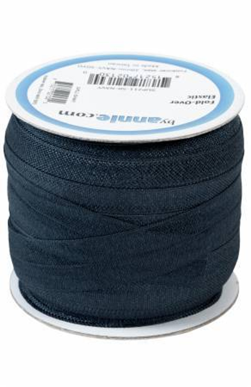 20mm Fold-Over Elastic - Navy