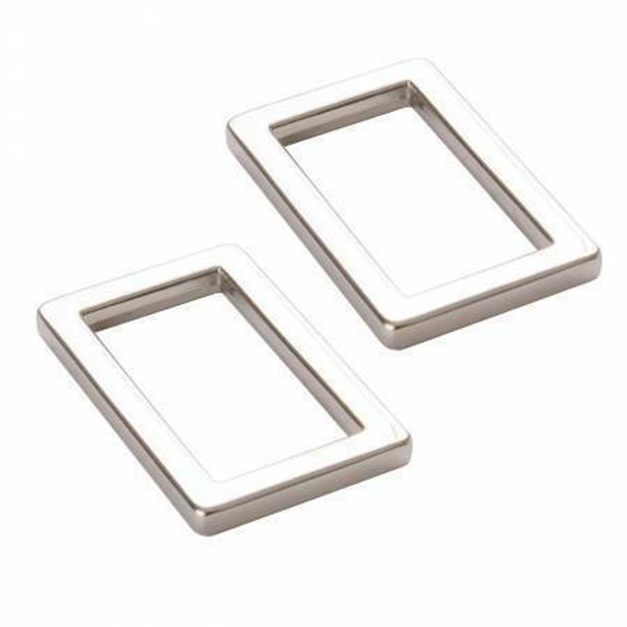 """1"""" Nickel Flat Rectangle Ring"""