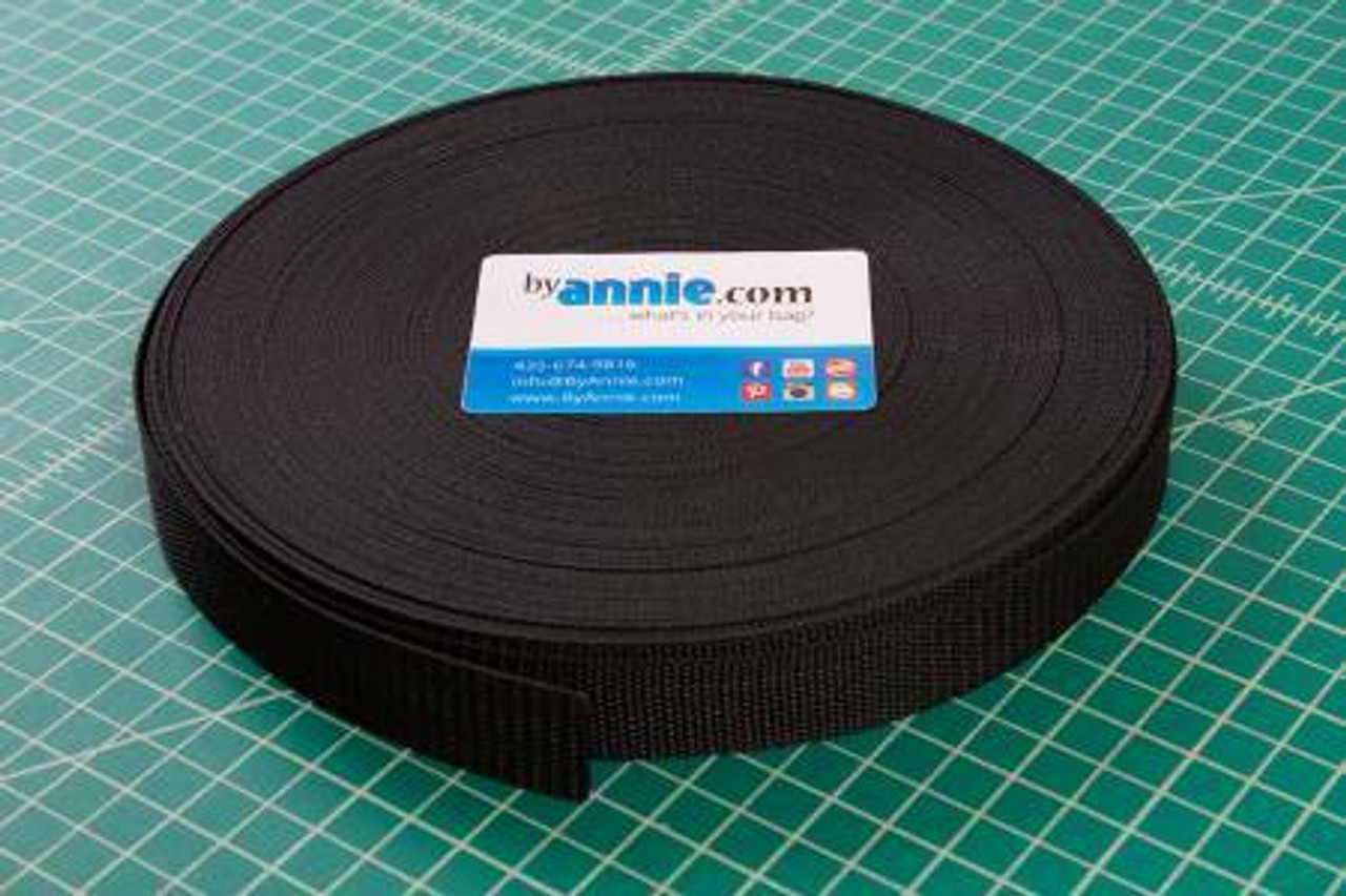 "1"" Polypro Strapping - Black"