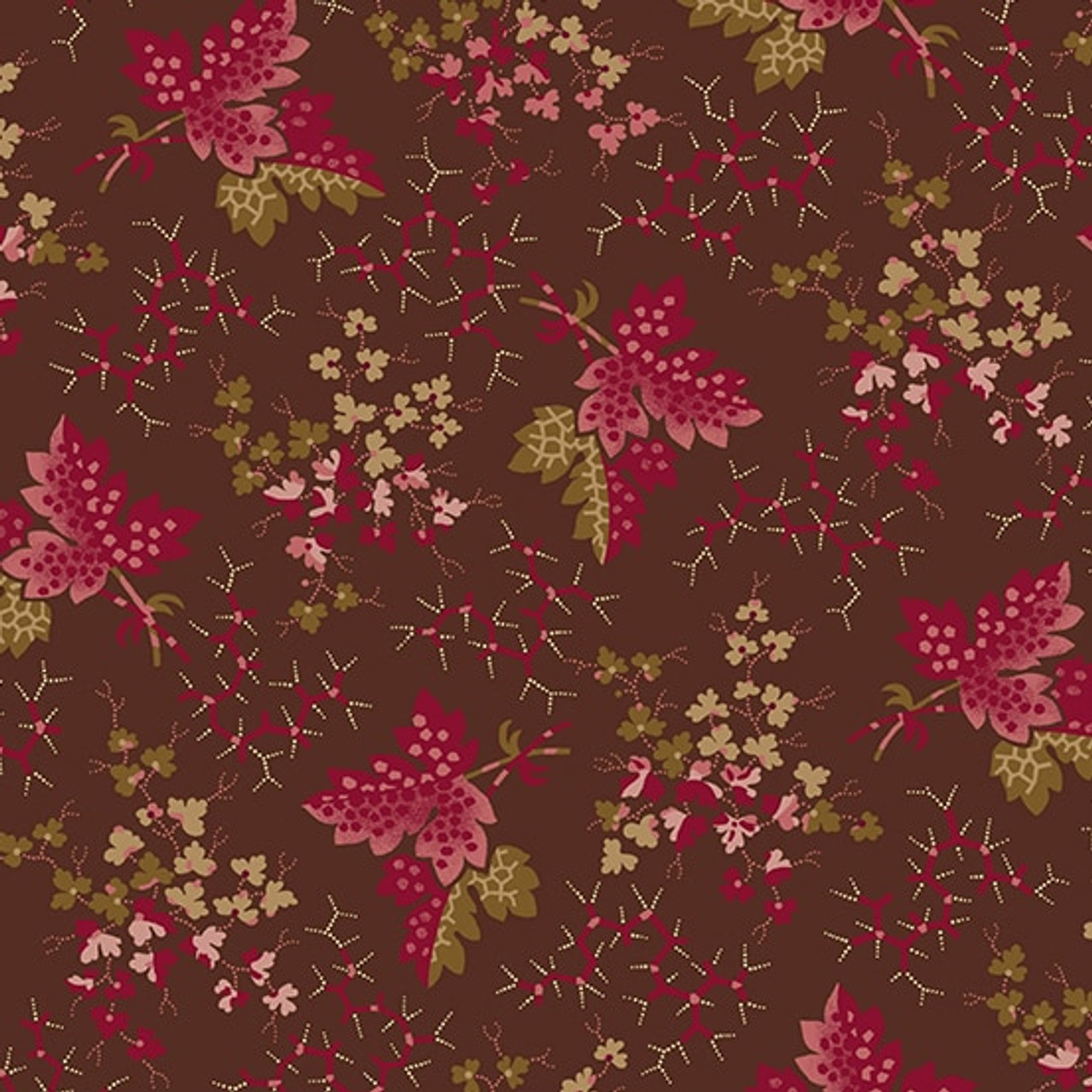 Anne's English Scrapbox by Di Ford Hall : Falling Leaves, Burgundy