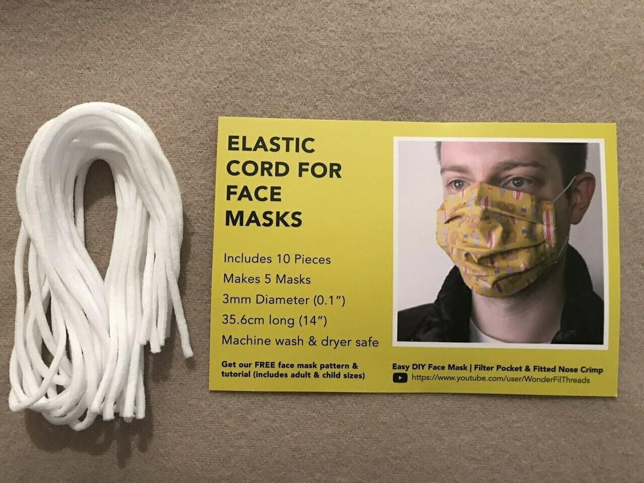 Face Mask Elastic Cord