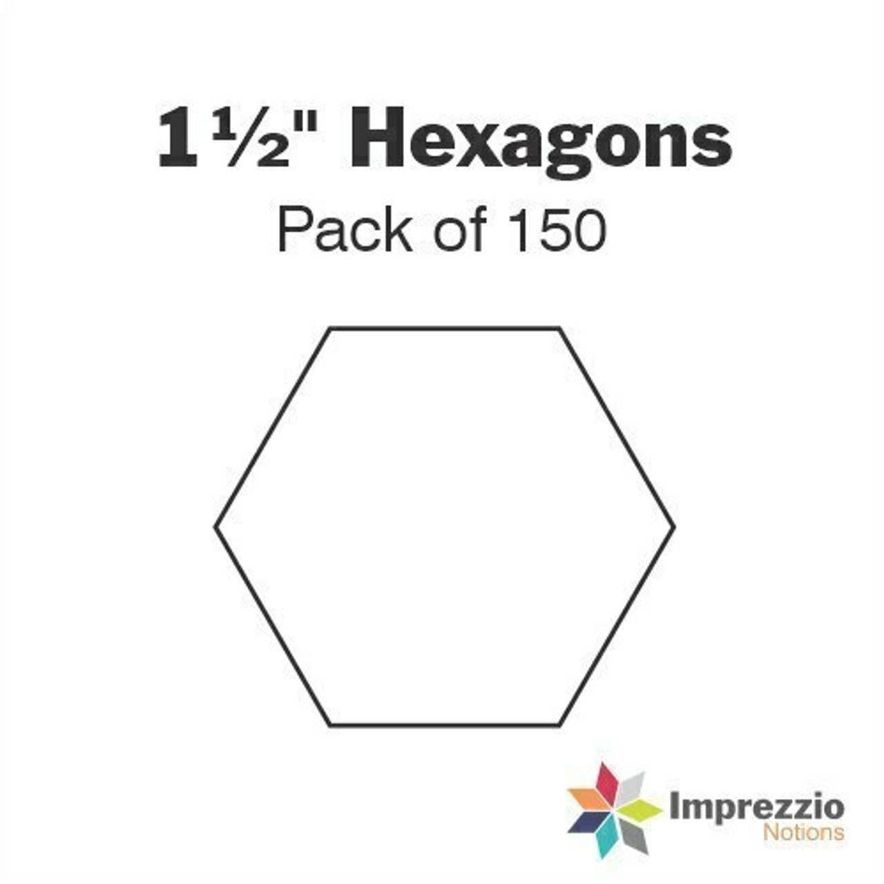 "1 1/2"" Hexagon Papers - Pack of 150"