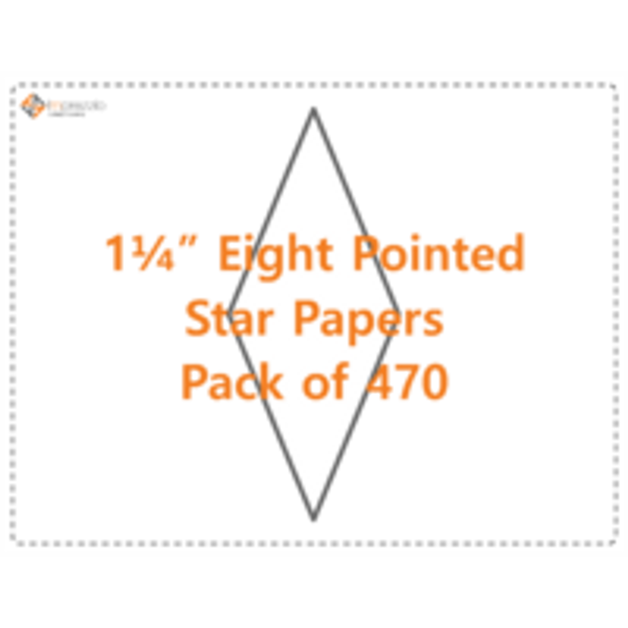 "1 1/4"" Eight Pointed Star Papers - Pack of 470"