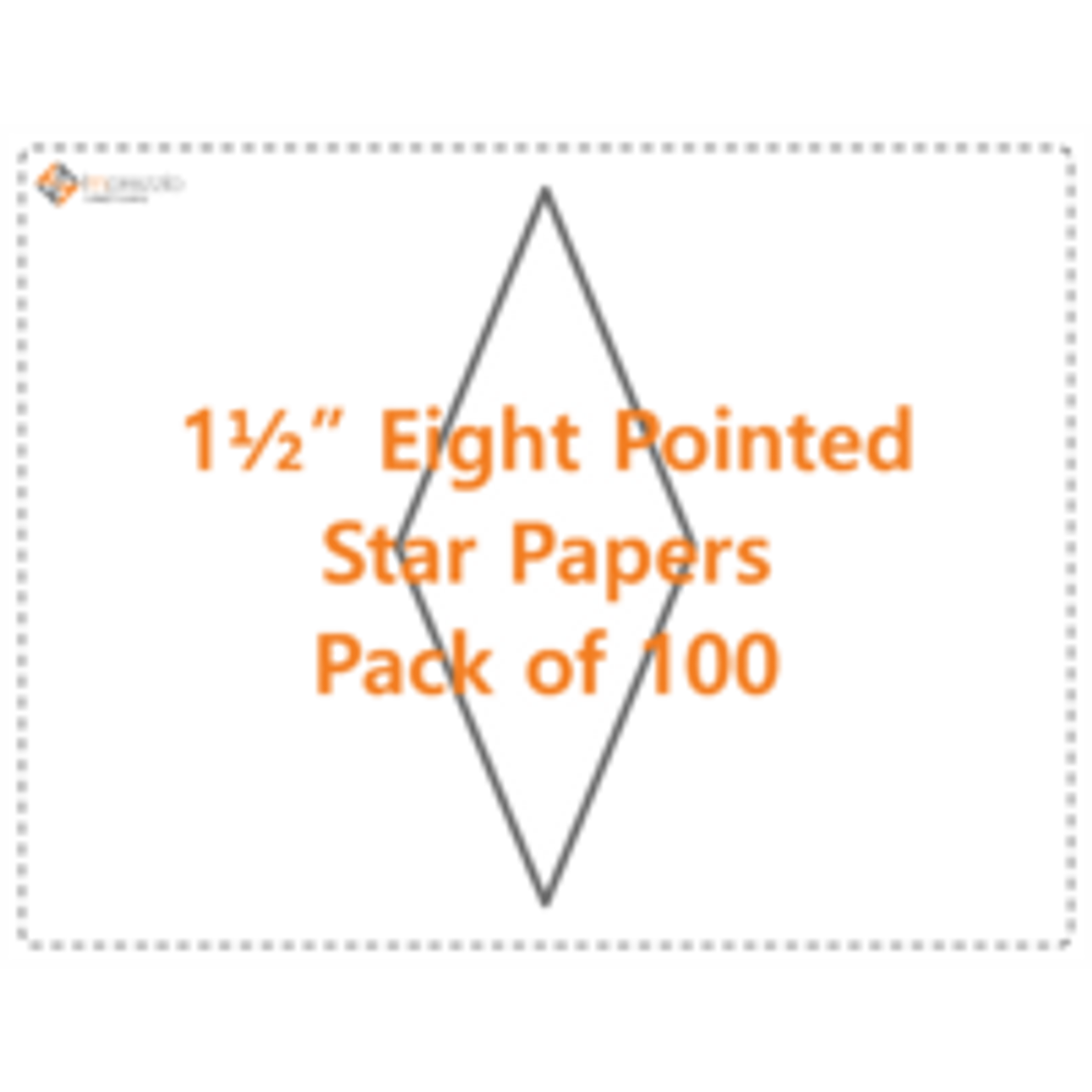 """1 1/2"""" Eight Pointed Star Papers - Pack of 100"""