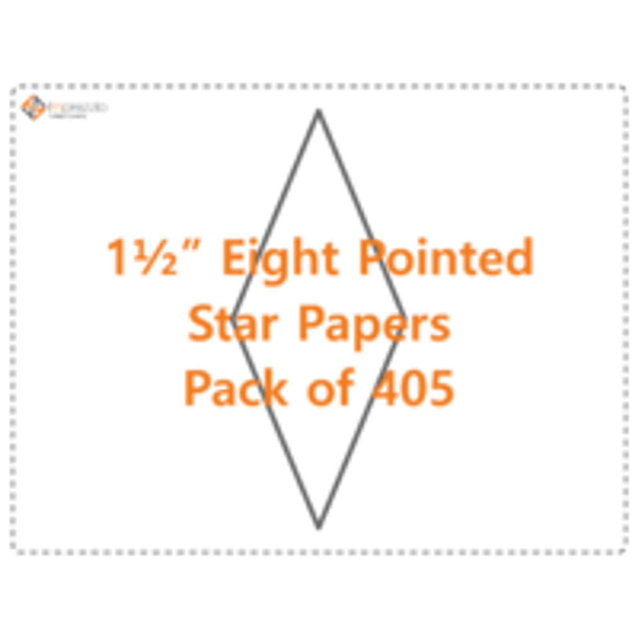 """1 1/2"""" Eight Pointed Star Papers - Pack of 405"""