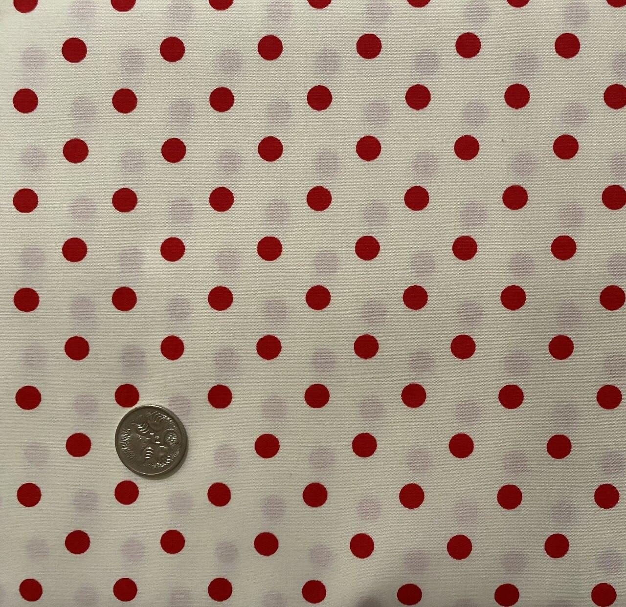 Cream with Medium Red Dot