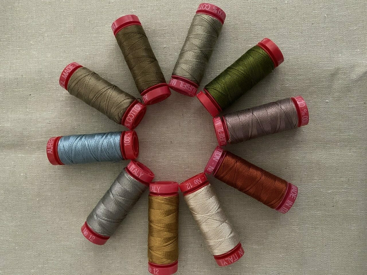 Aurifil Thread Pack : 12 Weight Threads for The Santa, The Tree, The Turkey and Me