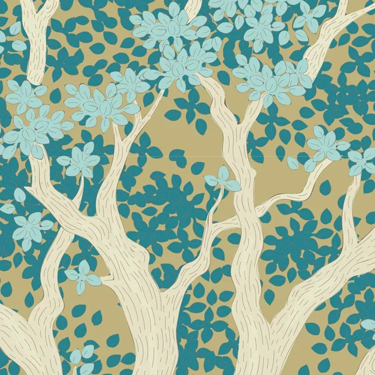 Tilda : Woodland, Juniper - Teal