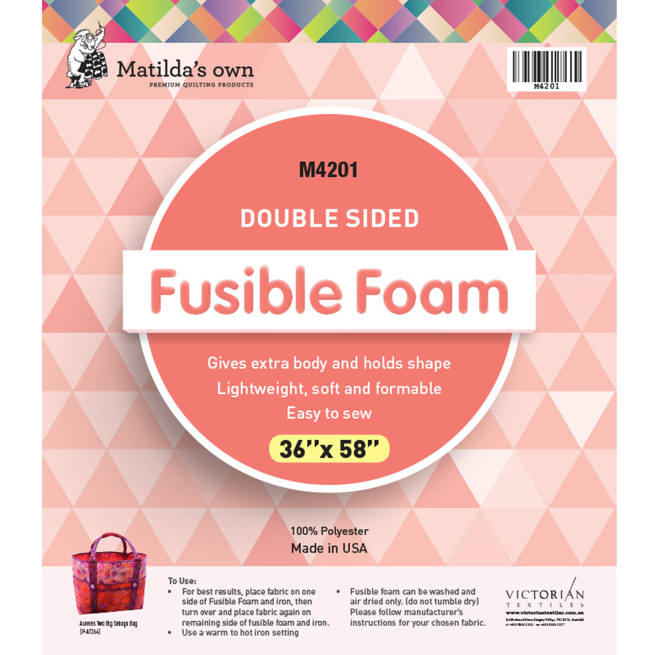 Pre-packed Double Sided Fusible Foam