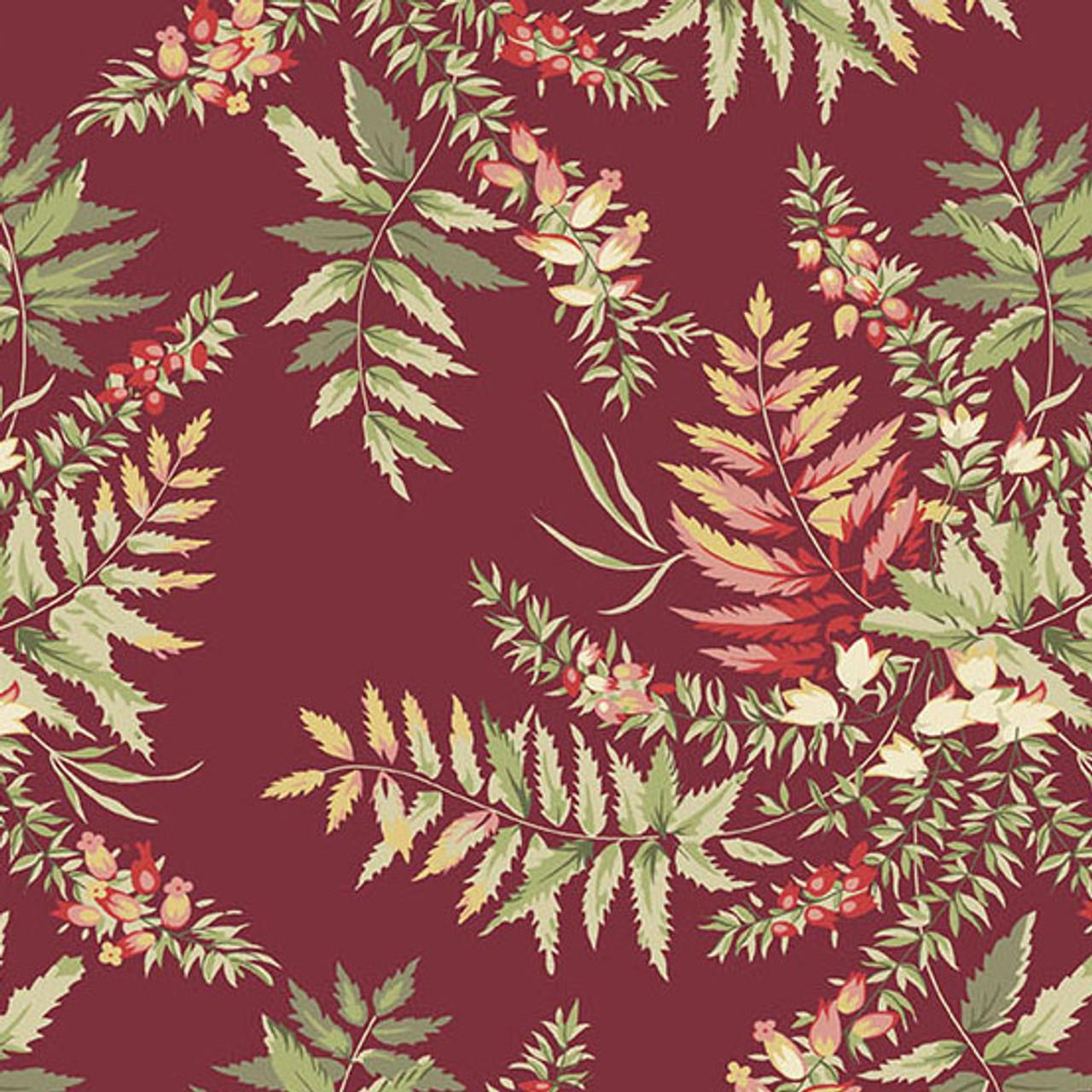 Edyta Sitar, Laundry Basket Quilts : The Seamstress, Fern - Cranberry