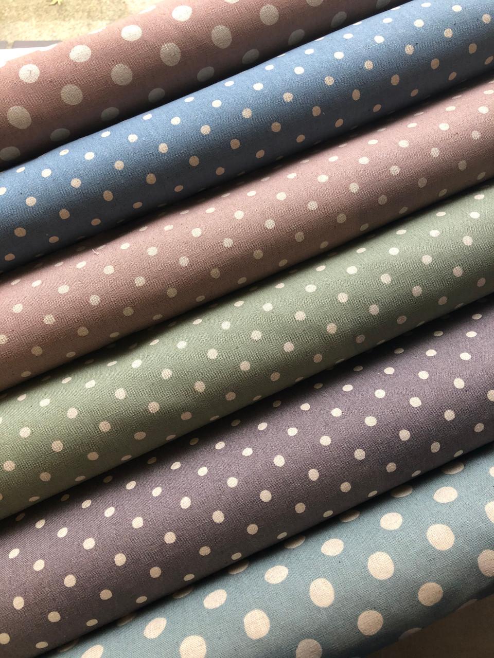 Linen Dot - Small on Purple