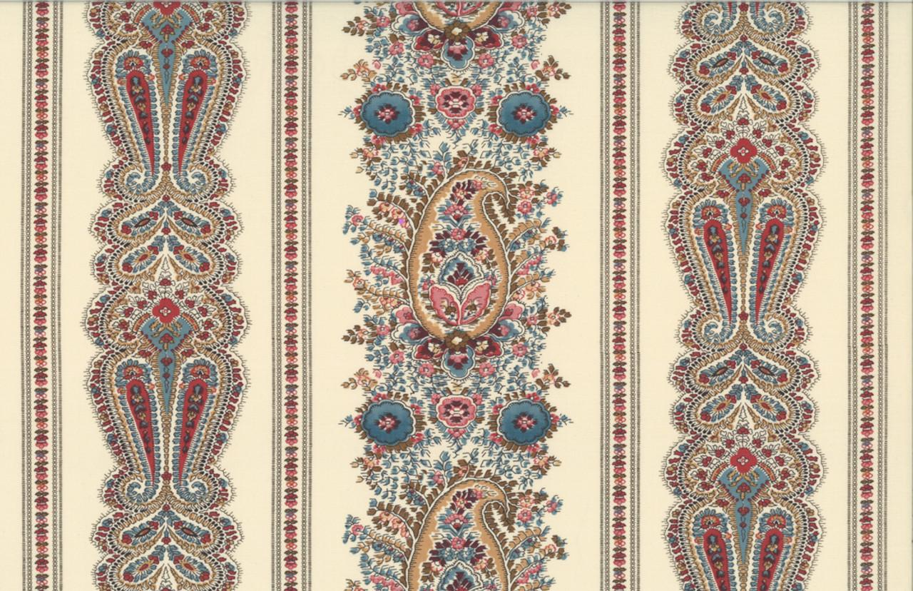 Ladies Legacy by Barbara Brackman : Julia's Counterpane Stripe - Engravers Ivory