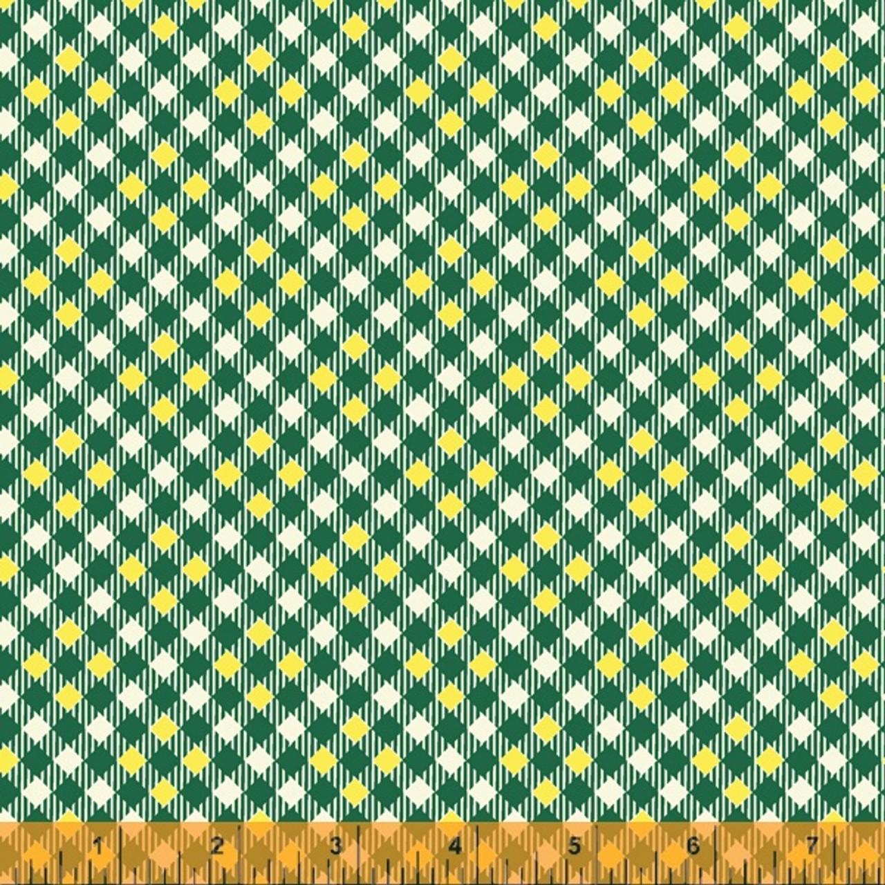 Five + Ten by Denyse Schmidt : Pixy Plaid, Dark Green