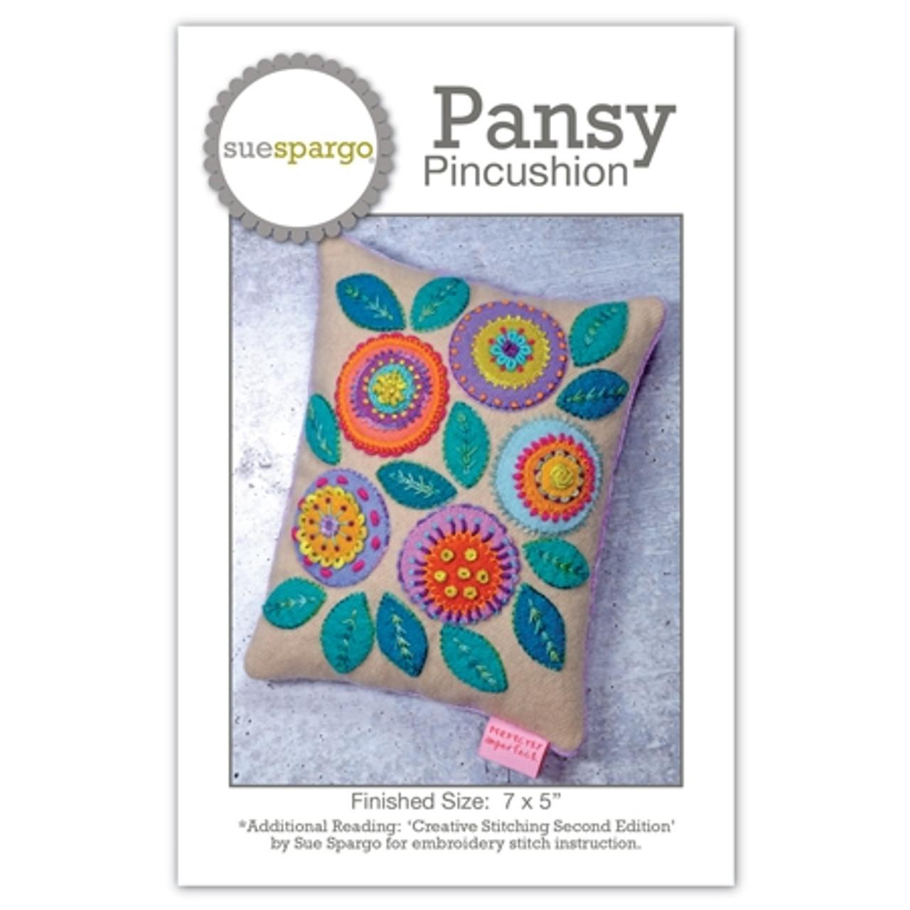 Sue Spargo : Pansy Pincushion Pattern