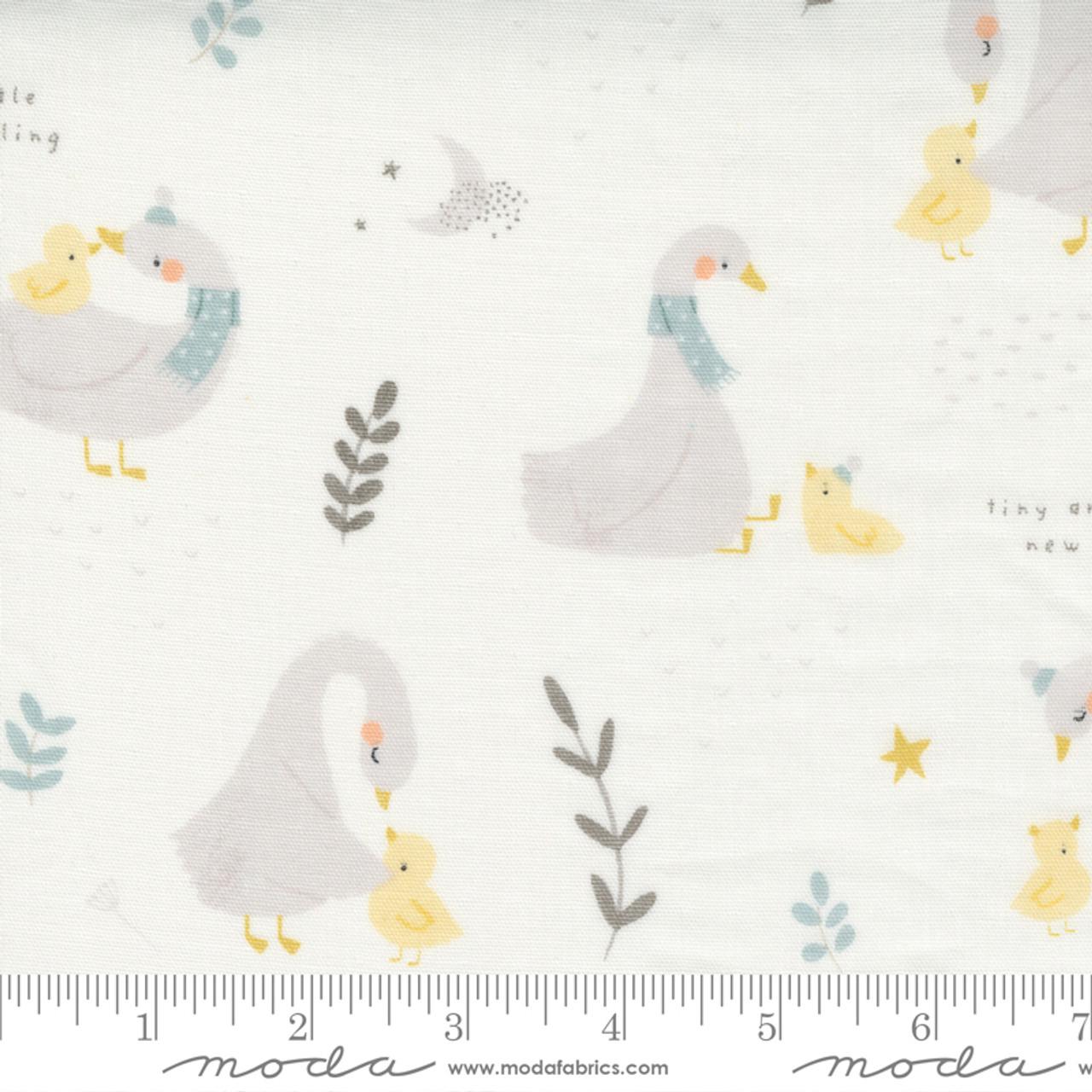 Little Ducklings Double Gauze : White