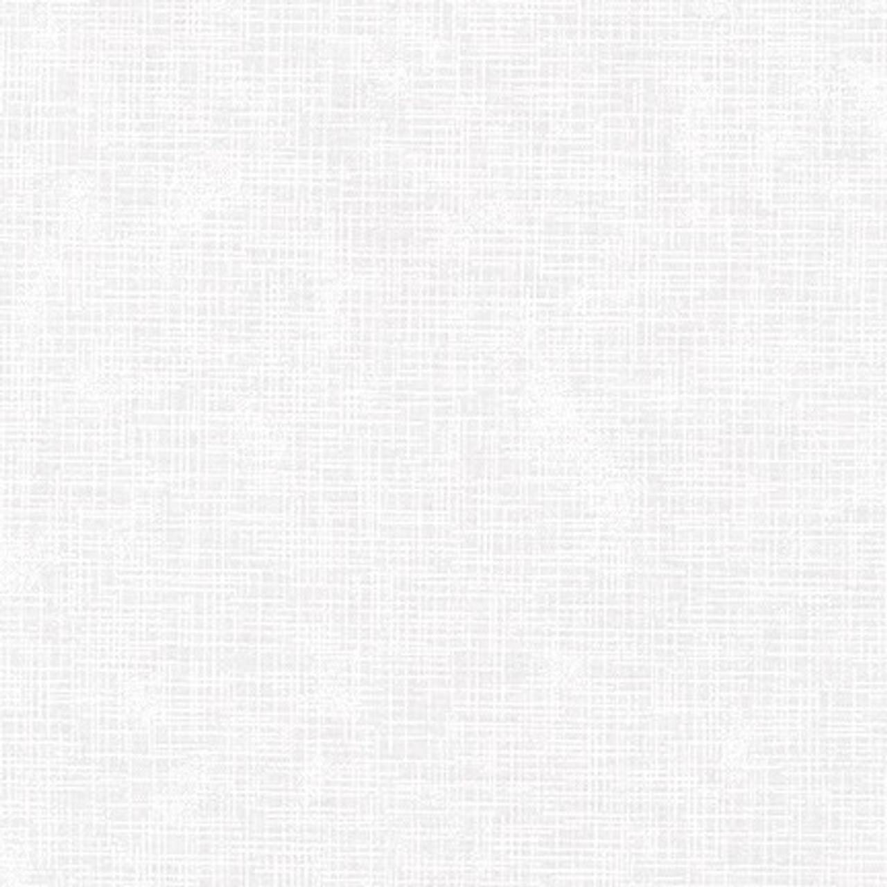 100% Cotton linen look - White