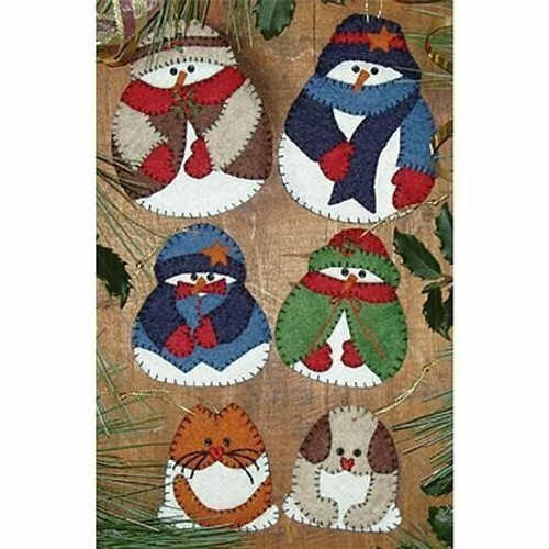 Snow Folk Ornaments Kit