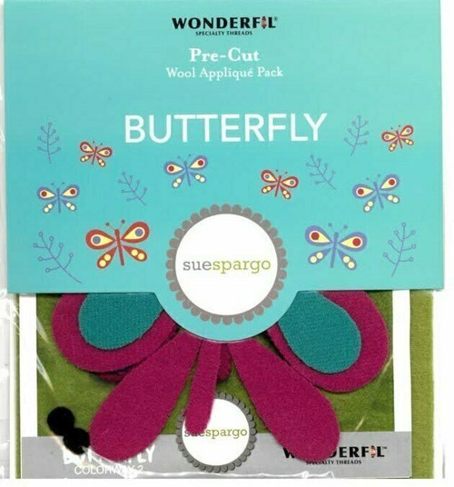 Sue Spargo Butterfly Pre-cut Wool Applique Pack