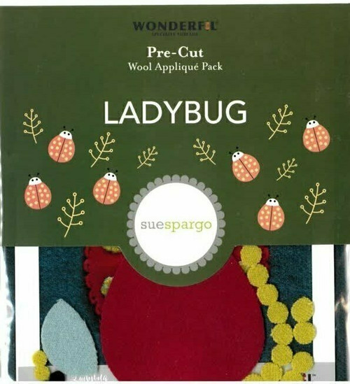 Sue Spargo Ladybug Pre-cut Wool Applique Pack