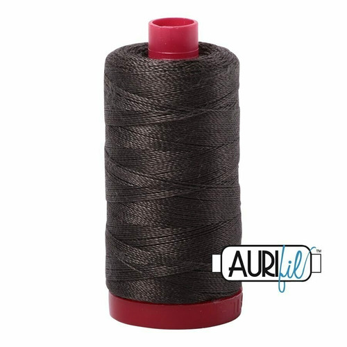 Aurifil 12wt Asphalt (5013) thread