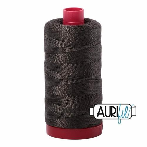 Aurifil 12wt Asphalt (5013) thread
