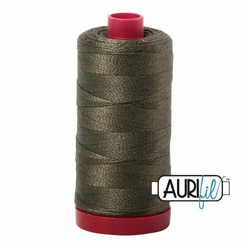 Aurifil 12wt Army Green (2905) thread