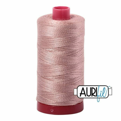 Aurifil 12wt Antique Blush (2375) thread