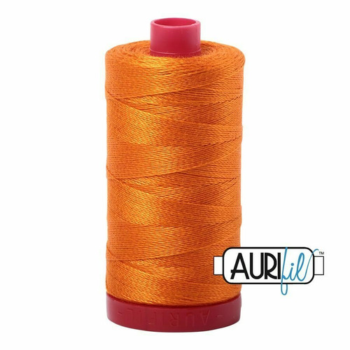 Aurifil 12wt Bright Orange (1133) thread
