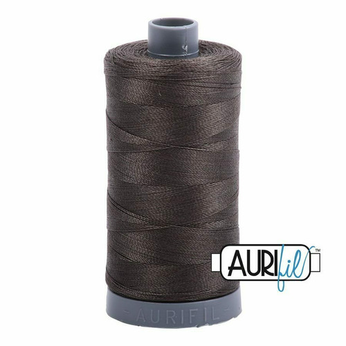 Aurifil 28wt Asphalt (5013) thread