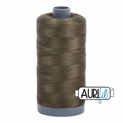 Aurifil 28wt Army Green (2905) thread