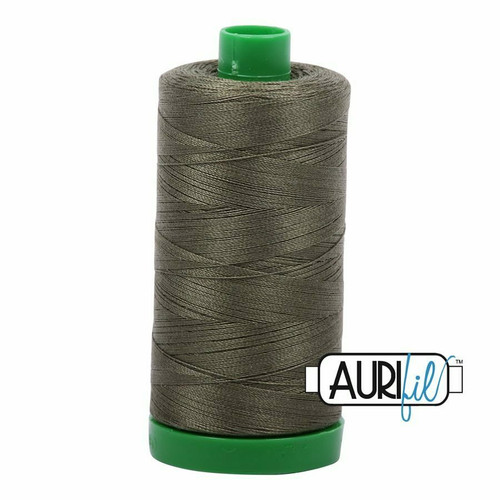 Aurifil 40wt Army Green (2905) thread