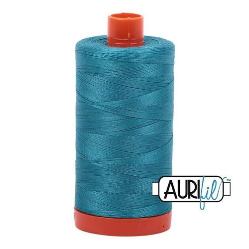Aurifil 50wt Dark Turquoise (4182) thread