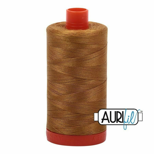 Aurifil 50wt Brass (2975) thread