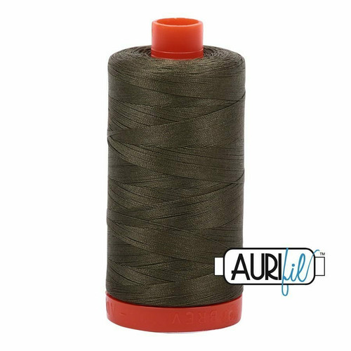 Aurifil 50wt Army Green (2905) thread