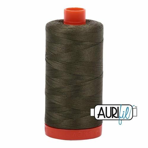 Aurifil 50wt Army Green (2905) thread
