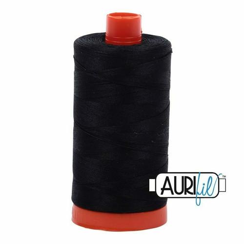Aurifil 50wt Black (2692) thread