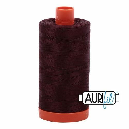 Aurifil 50wt Dark Wine (2468) thread