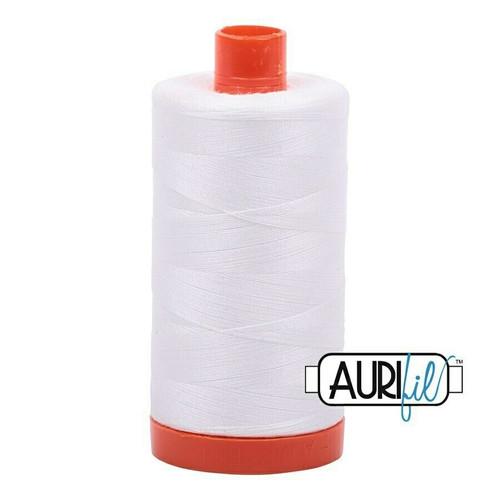 Aurifil 50wt Natural White (2021) thread