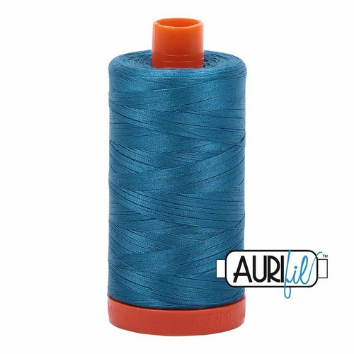 Aurifil 50wt Medium Teal (1125) thread